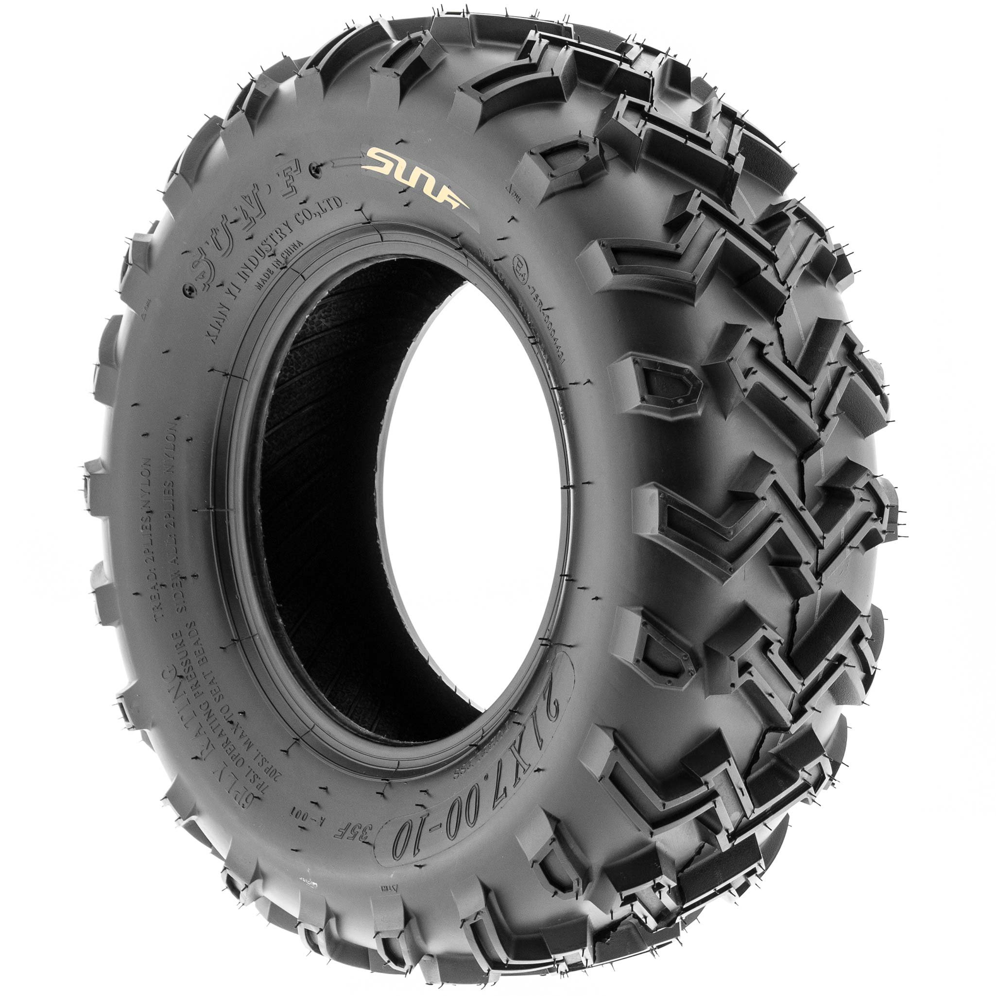 SunF 21x7-10 21x7x10 ATV UTV All Terrain Race Replacement 6 PR Tubeless Tires A001, [Set of 2] by SunF (Image #5)
