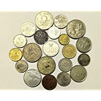 Arunrajsofia 5 Different Foreign Coins for Collection, School Project Works, Gifting, Craft.etc