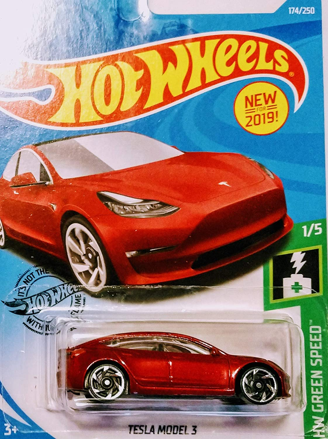 Hot Wheels Tesla Model 3 White and Red 172//250 2 Car Bundle Set