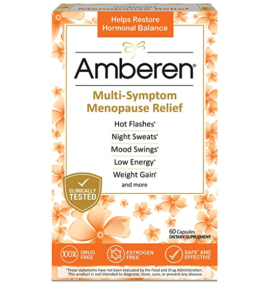 Product thumbnail for Amberen Menopause Relief Supplements-Best for Curing Multiple Menopausal Symptoms