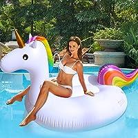 TURNMEON Boia flutuante inflável de unicórnio para meninos e meninas, flutuador de praia gigante de verão para piscina…