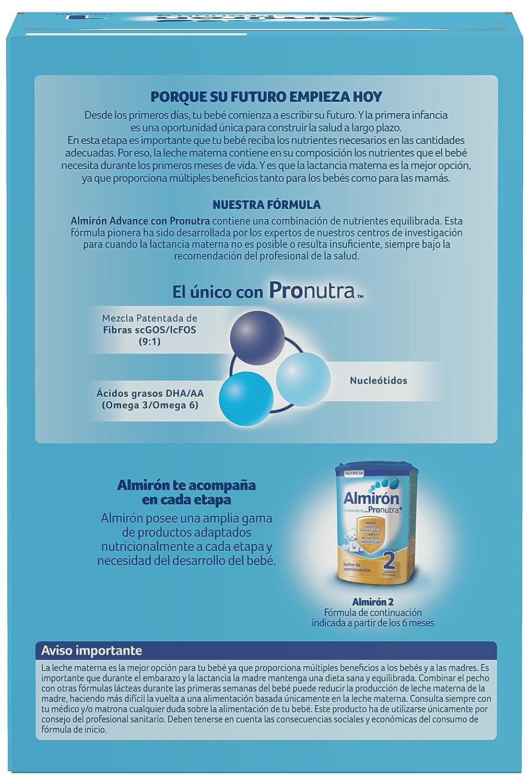 Almirón Advance con Pronutra 1 Leche de inicio en polvo a partir del primer día 1,2 kg: Amazon.es: Alimentación y bebidas