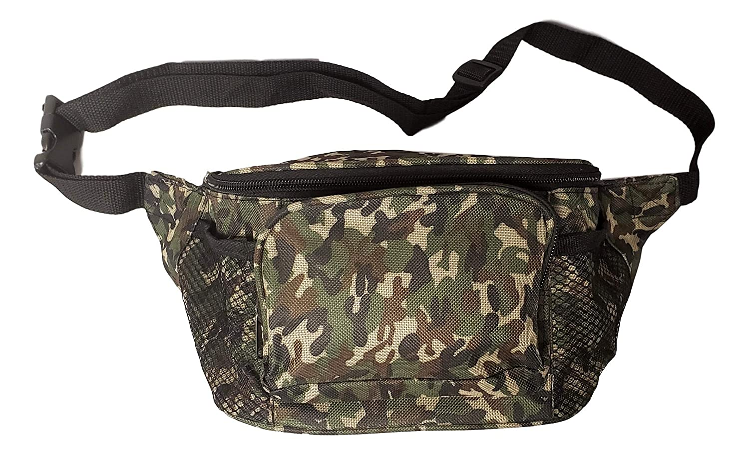 KNOX G DESIGNS Mens Basic Travel Fanny Pack Waist Bag in Solids and Camo