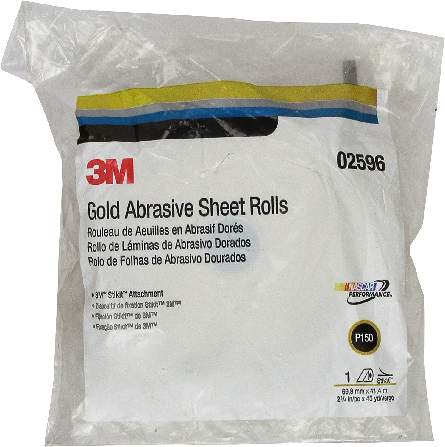 3M STIKIT GOLD SHEET ROLL 02596 P150 2-3   4 IN X 45 YD