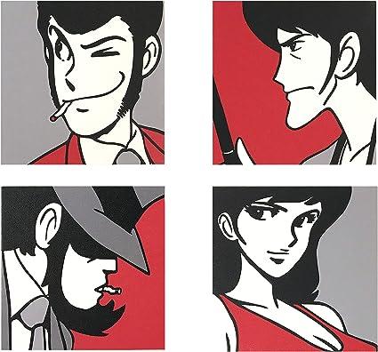 Lupin - 3 Marcos modernos con impresión sobre lienzo: Amazon.es: Hogar