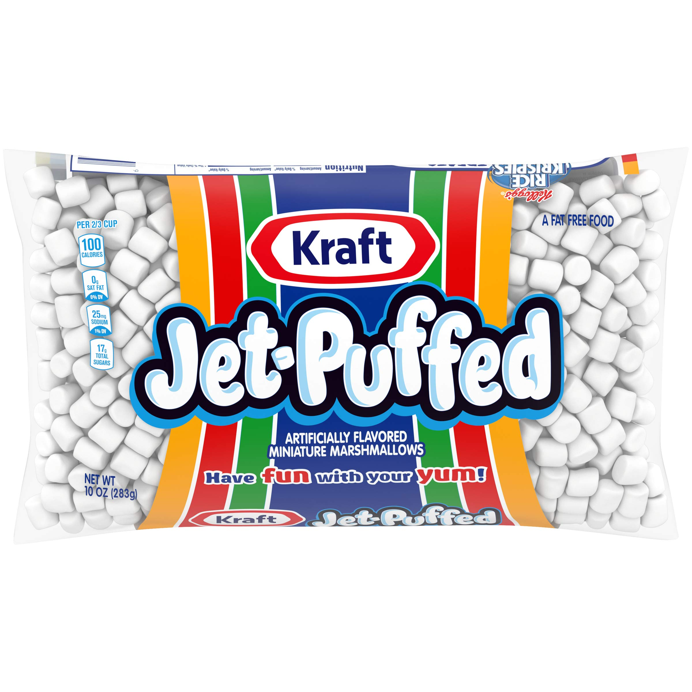 Jet Puffed Mini Marshmallows (10 oz Bags, Pack of 12)