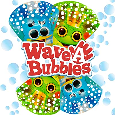 Zing Wave-A-Bubbles (Pack of 4): Toys & Games