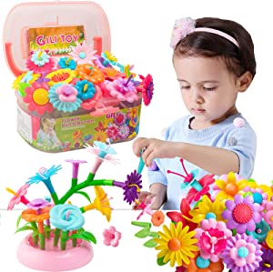 Gili Girl Garden Building Toys - Growing Stacking Games for Toddler, Educational Pretend Play Gift for Kids Age 2-6. Preschool Activity for Age 3, 4, 5, 6, 7 Year Old Boys and Girls