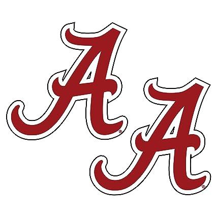 amazon com alabama crimson tide decal sports outdoors rh amazon com  alabama state logo font
