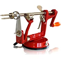 CAST IRON APPLE PEELER by Purelite Durable Heavy Duty Cast Iron Apple Slicing Coring and Peeling Machine Razor Sharp Stainless Steel Blades and Chrome Plated Parts eBook Included