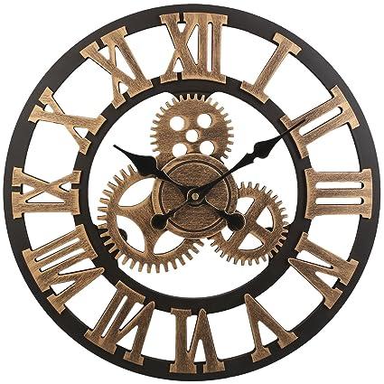 Amazon.com: Soledi Vintage Clock European Retro Vintage Handmade 3D ...