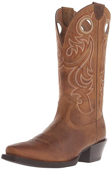 a3fa21c0e58 ARIAT Men s Sport Square Toe Western Boot Powder Brown Size 7 D Medium Us