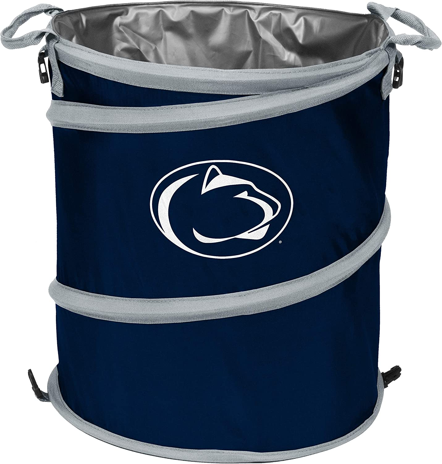 Logo Brands NCAA Penn State Nittany Lions Collapsible 3-in-1 Trash Cooler Can, One Size, Team Color