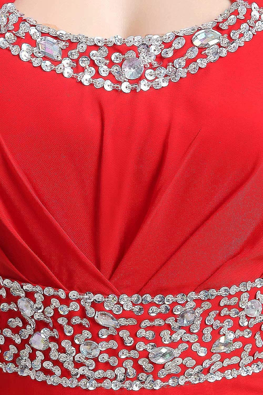 Babyonline Damen Abendkleid Elegante Abiballkleid /Ärmellos Ballkleid mit Pailletten