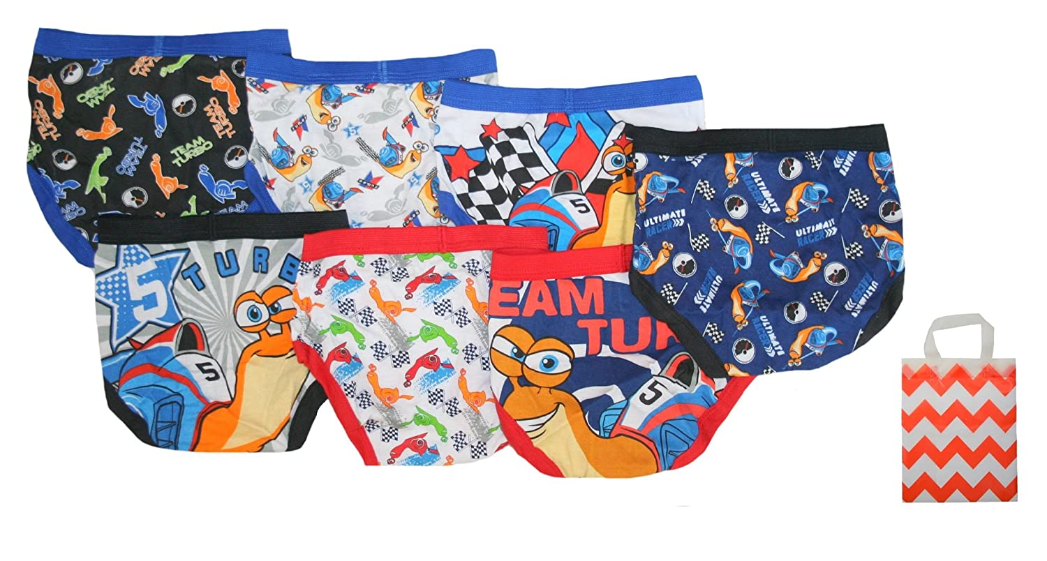 Amazon.com: Turbo Little Boys 7 Pack Briefs and Bag - Multi-Pack: Clothing