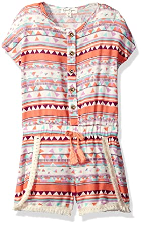 3e896ca5607f Amazon.com  Jessica Simpson Girls  Toddler Printed Short Romper ...