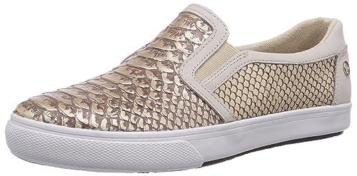 Tommy Hilfiger VIVIEN 24Z - Zapatillas slip on mujer, color dorado, talla 38: Amazon.es: Zapatos y complementos