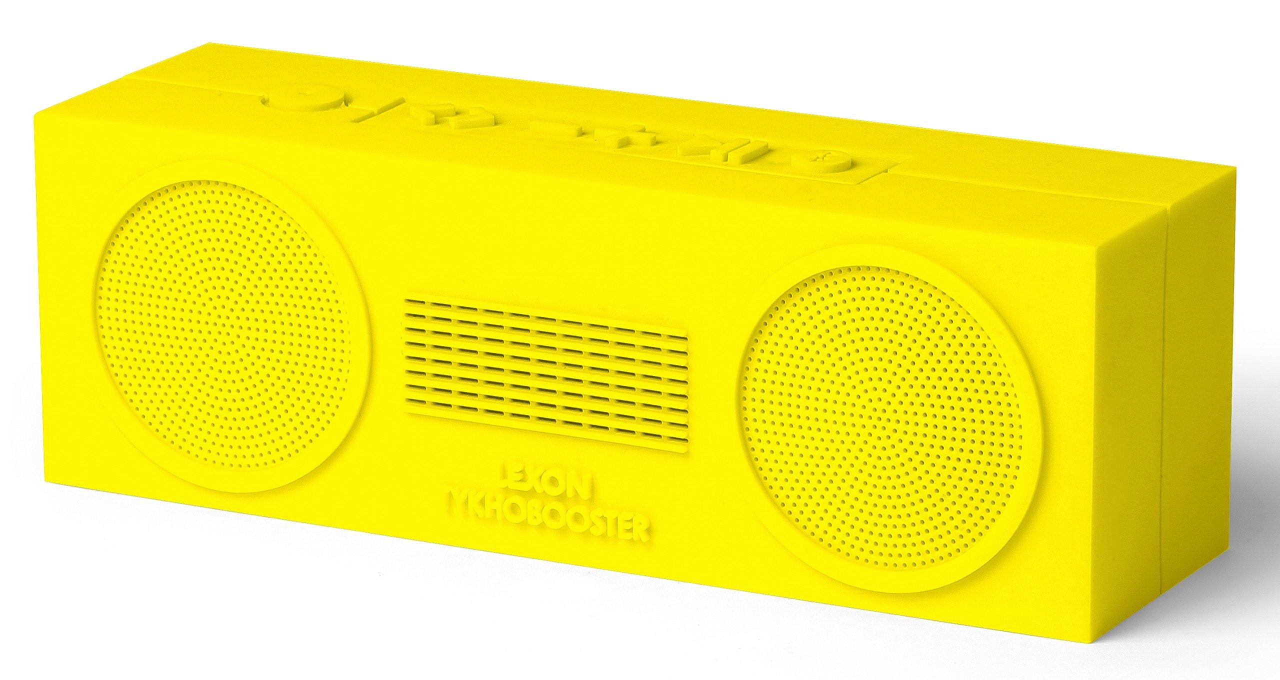 Yellow Lexon Tykho Rubber Rechargeable Bluetooth Speaker Booster by Lexon