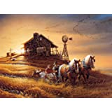 Meryi Wheat Field Scenery Jigsaw Puzzles for Adults 1000 Piece, Adult Children Intellective Educational Toy DIY Collectibles