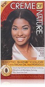 Creme of Nature Exotic Shine Color, Soft Black, 3.0 Fluid Ounce