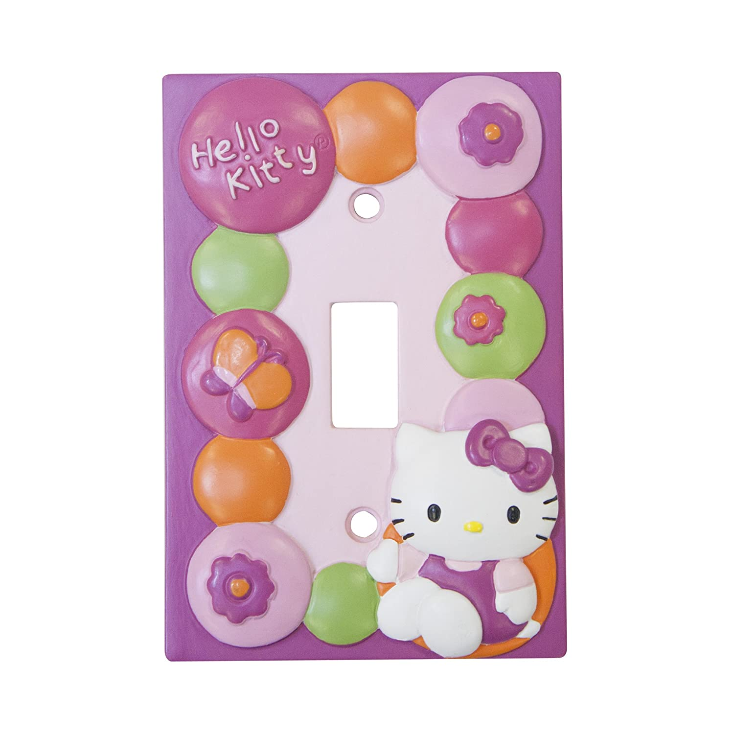 Lambs & Ivy Hello Kitty Garden Switch Plate, Pink 523025 LI-523025