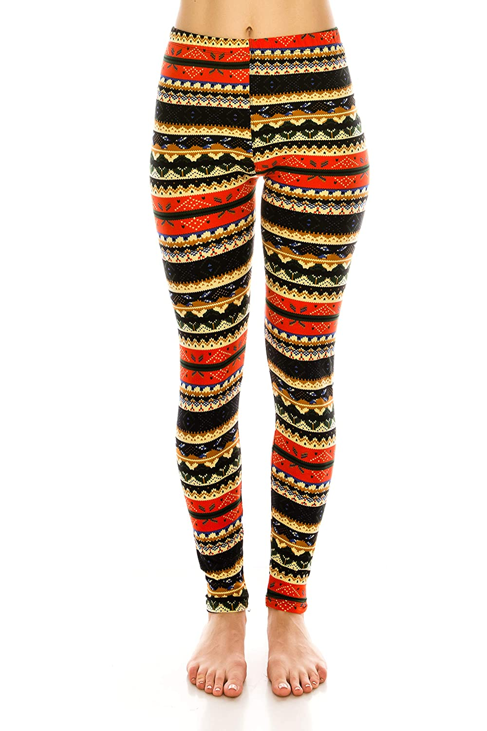 609f0e35235a82 ALWAYS Leggings Women Printed Patterned - Premium Buttery Soft Stretch Pants  at Amazon Women's Clothing store: