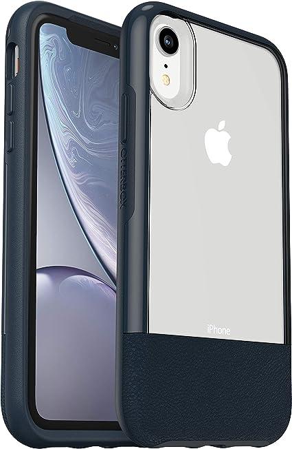 Otterbox Slim bundle. Pack Funda anti caídas fina + Protector de pantalla Cristal templado. Trasera transparente iPhone XR Azul Noche: Amazon.es: Electrónica
