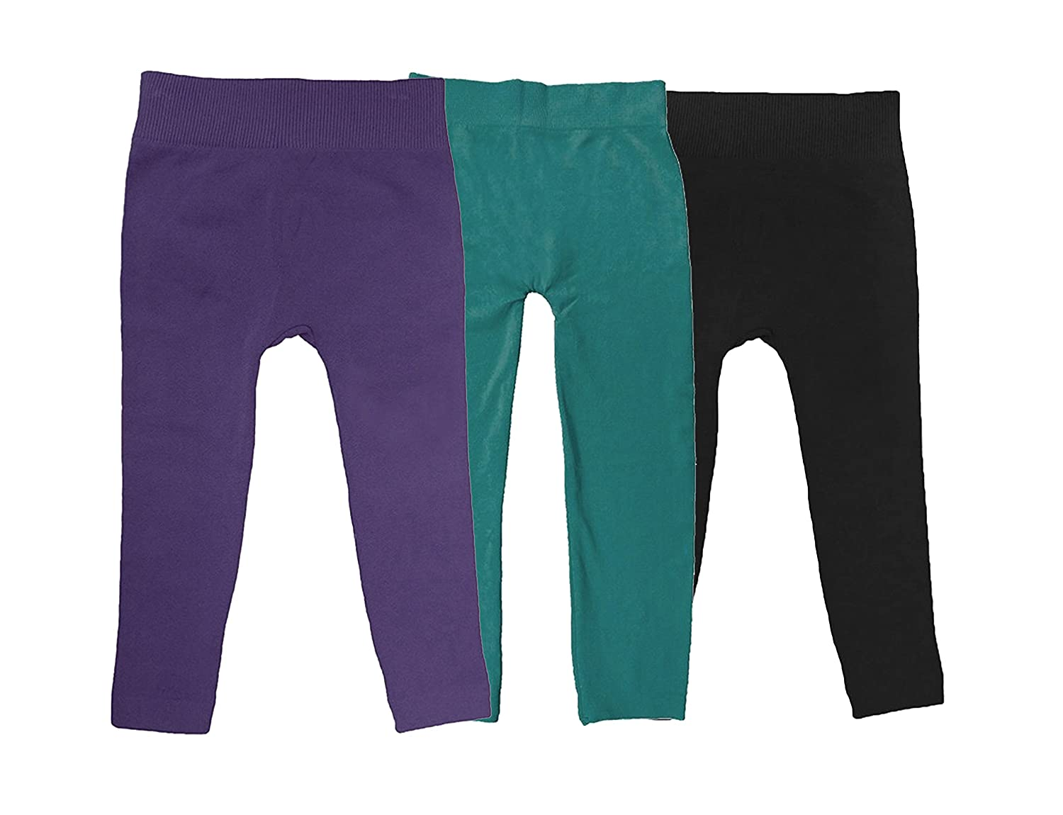 Simply Savvy Co USA - 3pk Thick Quality Fleece Lined Girls Kids Tights Leggings 4-8yrs More Colors