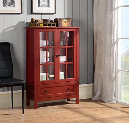 Superieur Homestar With 2 Door/ 1 Drawer Glass Cabinet, 47.24 X 31.50 X