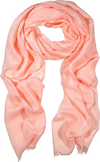 Women Soft Light Weight Plain Scarf Woven Neck Long Cotton Scarves