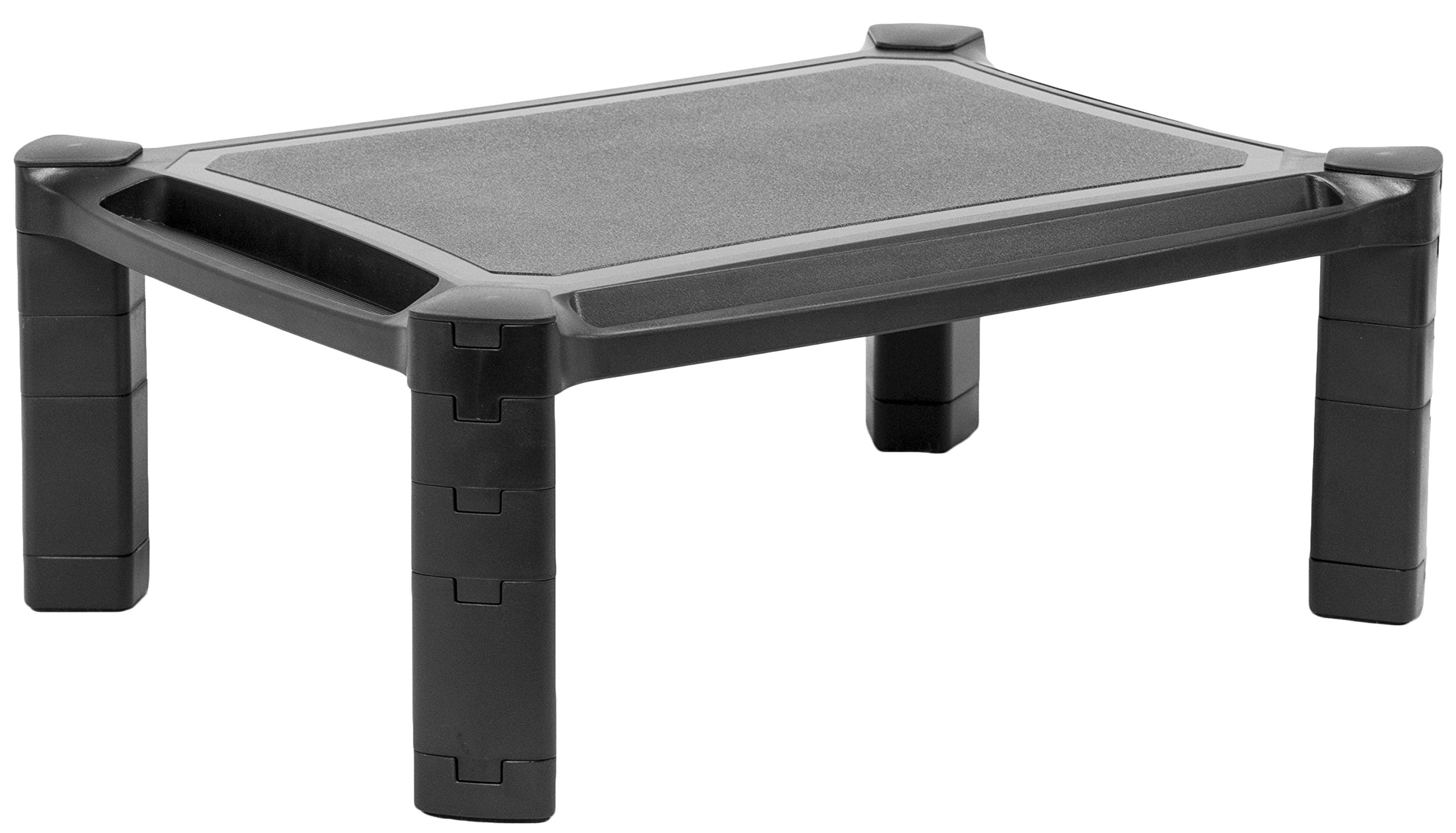 VIVO Height Adjustable Computer Monitor Stacked Desk Riser Tabletop Smart Stand Platform Holds Screens, Phones, Pens, Calculators, and More (STAND-V000B)