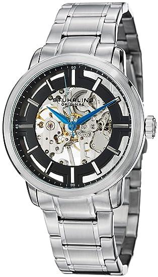 Stührling Original 39433111 - Reloj hombre movimiento automático con brazalete metálico: Amazon.es: Relojes