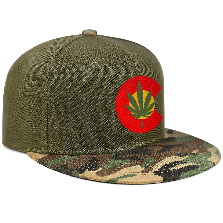 Colorado Cannabis Bundle Camouflage Unisex Baseball Cap Cooling Sport Baseball Caps Adjustable Trucker Caps Dad-Hat