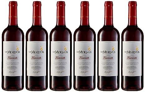 Los Molinos Tradición Tinto DO Valdepeñas Vino - Paquete de 6 x 750 ml - Total: 4500 ml