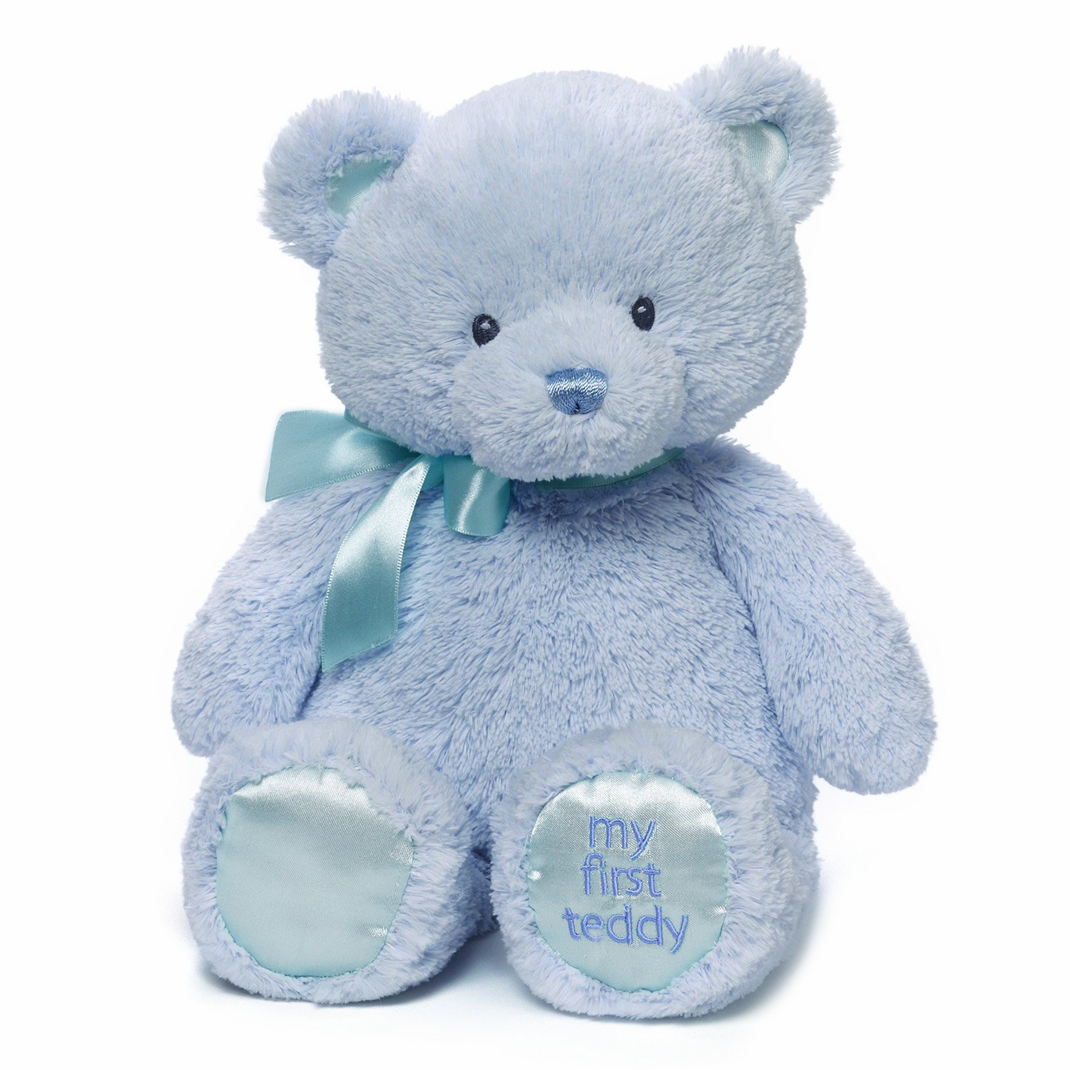 Amazon Com Baby Gund My First Teddy Bear Stuffed Animal Plush Blue