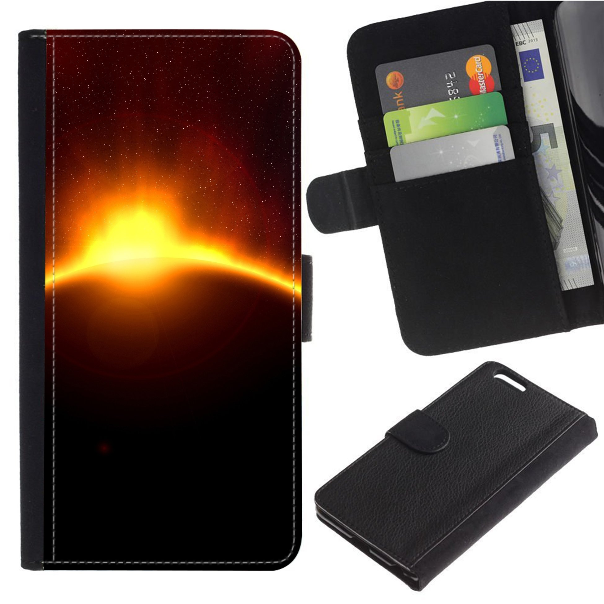[Solar Eclipse] For LG X POWER/K220DS K220 Flip Leather Wallet Holsters Pouch Skin Case