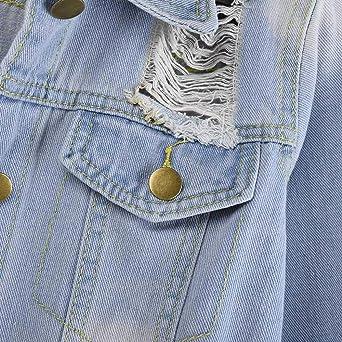 DIOMOR Mens Spring Summer Destroyed Vintage Denim Jacket Waistcoat Blouse Vest Top