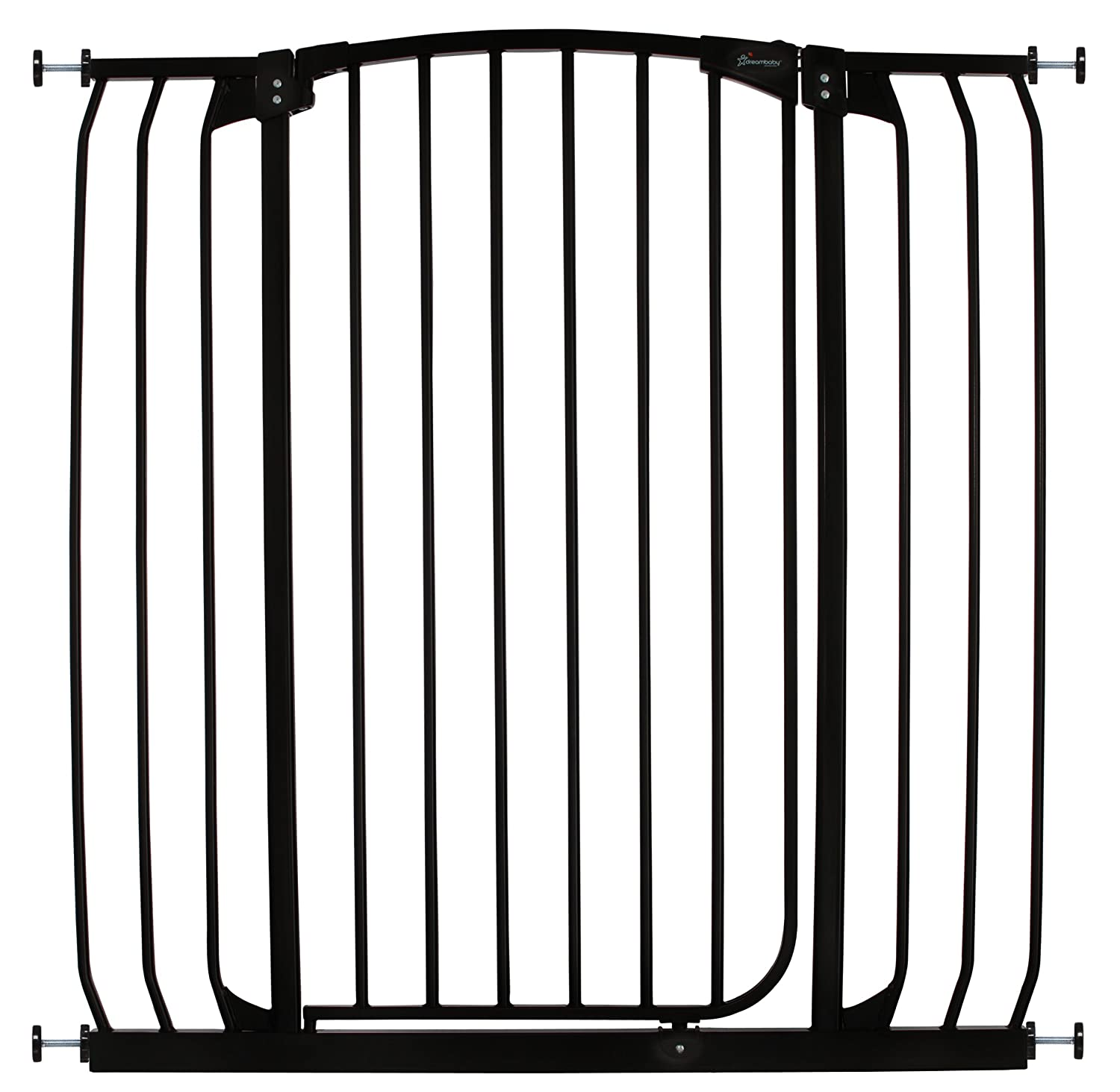 Dreambaby Chelsea Extra Tall and Wide Auto Close Security Gate in Black