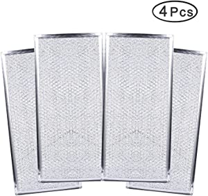 Cykemo W10208631A Grease Filter Aluminum Mesh Oven Microwave Filters for Whirlpool KitchenAid Estate Amana (4-Pcs)