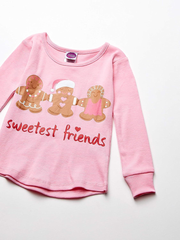 Dollie /& Me Girls Girls Snug Fit Pajamas with Matching Doll Outfit 5-Piece Pajama Set