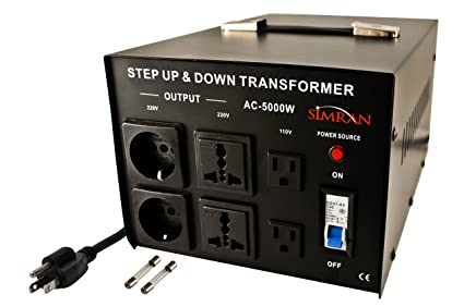 The 220 Volt Plug Amazon Com >> Simran Ac 5000 Power Converter Voltage Transformer 110v To 220 240 Volt 5000 Watt Black