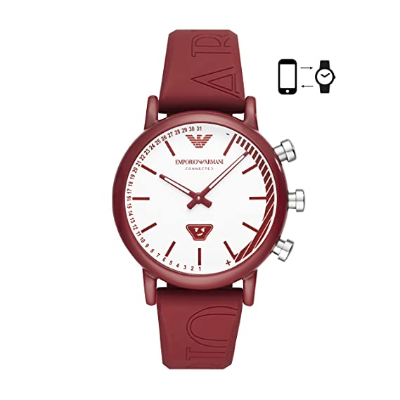 5724a56f32a4 Emporio Armani Reloj Analógico para Hombre de Cuarzo con Correa en Silicona  ART3024  Amazon.es  Relojes