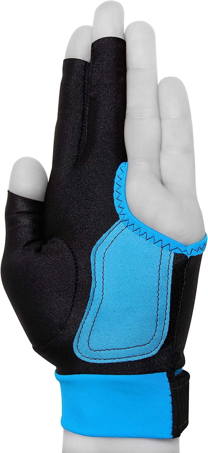 Black Pro Series Pool Cue Gloves Choose Size Sm-XL Full Fingers Washable 2