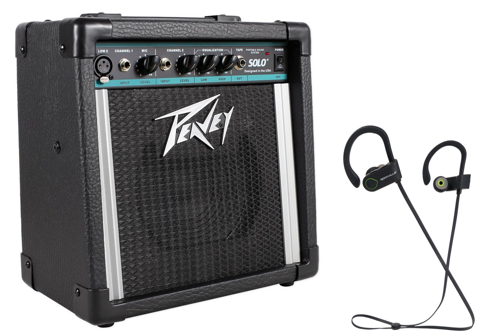Peavey Solo Portable PA 2 -Ch Powered Sound System Battery or AC + Free Speaker! by Peavey
