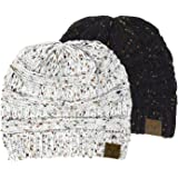 Funky Junque CC Confetti Knit Beanie - Thick Soft Warm Winter Hat - Unisex