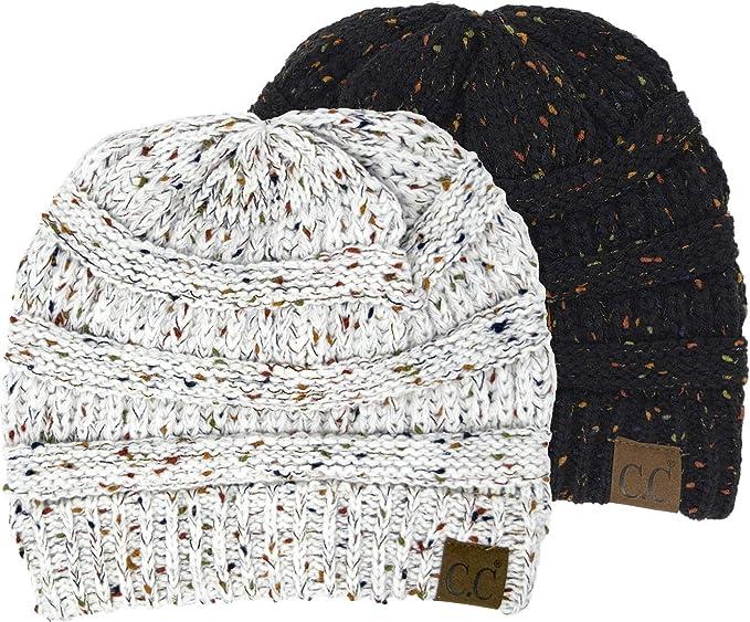 830e61c6c Funky Junque Confetti Knit Beanie - Thick Soft Warm Winter Hat - Unisex