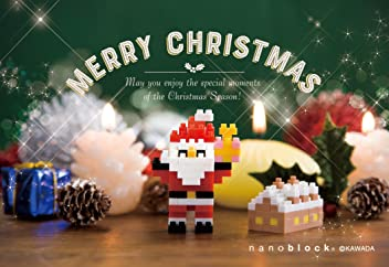 nanoblock NP074 postcard Merry Christmas