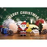 ナノブロック クリスマスカード 2018 サンタとちいさいお家 A NP089