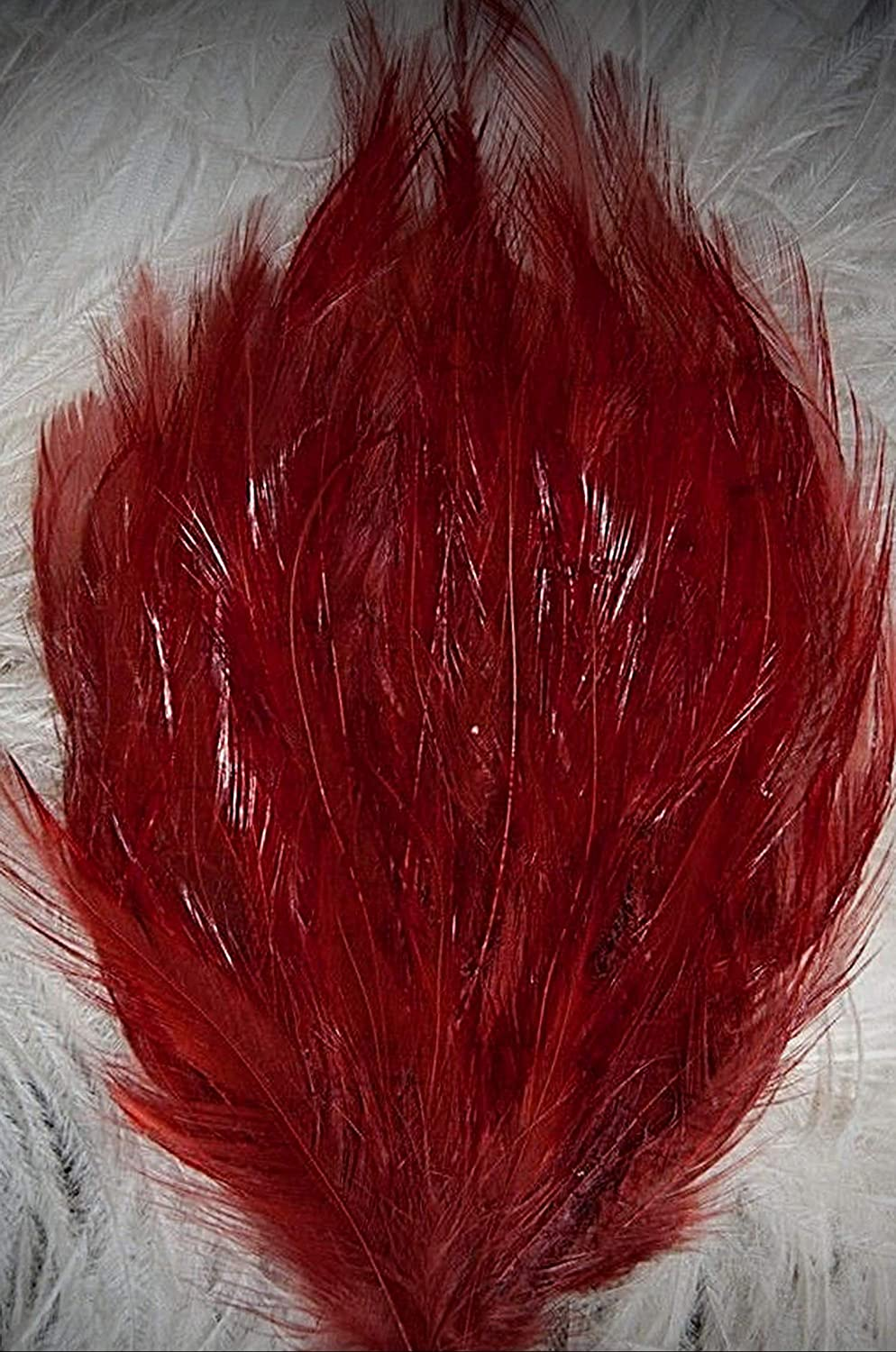 Deep Rust Copper Rooster  Feather Pad US Seller