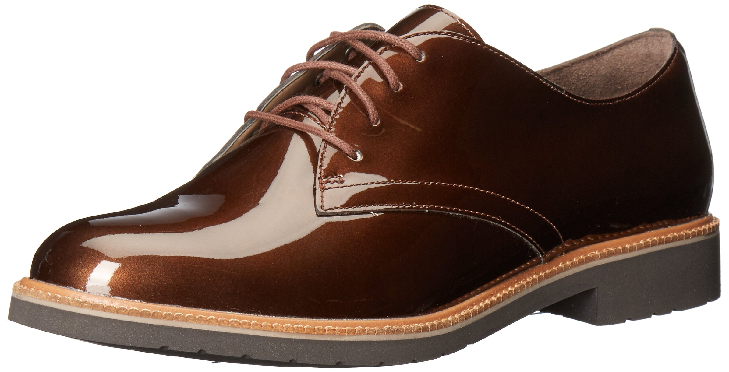 Rockport Women's Total Motion Abelle Laceup Oxford, Bronze Pearl, 5 W US